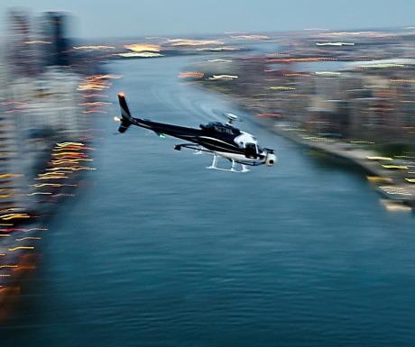 AS350 in flight