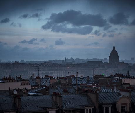 Dusk storm over Paris