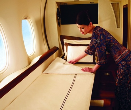 First Class and Business Class Flights-Singapore suites