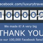 We've reached 100,000 'likes' on Facebook!