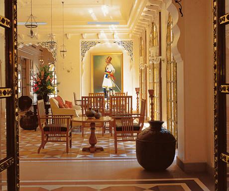 Inside Oberoi Rajvilas