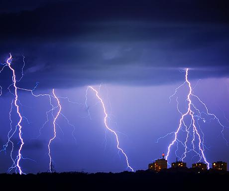 Storm in Pula, Croatia