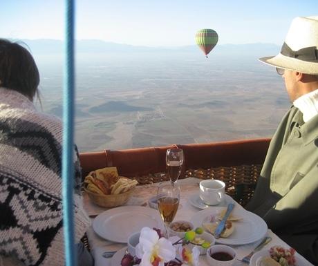Balloon flight over Marrakech