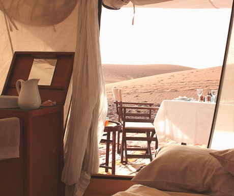Breakfast with a view at Azalai Camp