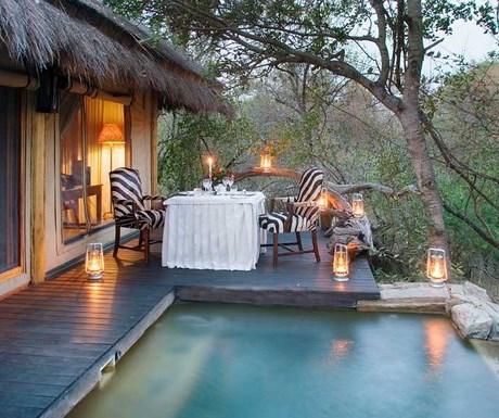 Camp Jabulani - private splash pool