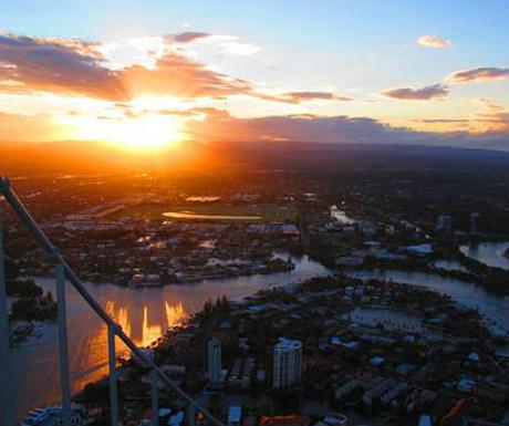 Skypoint sunset