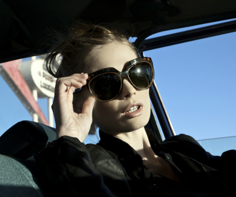 Christian Roth sunglasses on Laurenne Juliet