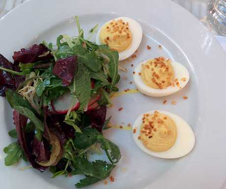 Curried deviled eggs, Kitchen Door