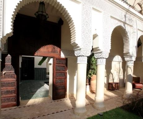 Entrance to private Villa des Orangers riad