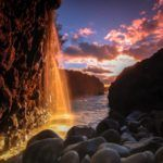 Photograph of the week: Waterfall sunset from Kauai, Hawaii