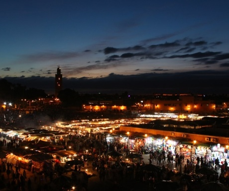 Jemaa El Fna Square by dawn