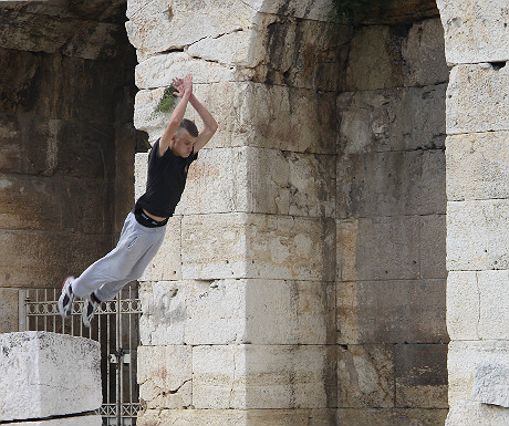 Parkour at the Acropolis