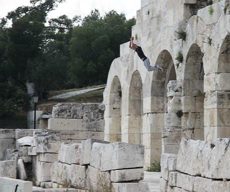 Parkour at the Acropolis