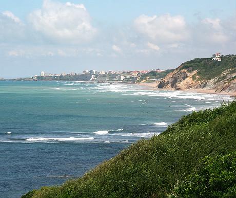 Pays Basque coastline