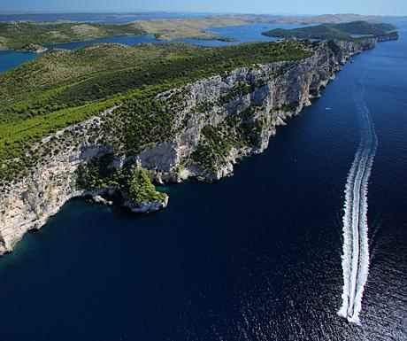 The cliffs of Dugi Otok, Croatia
