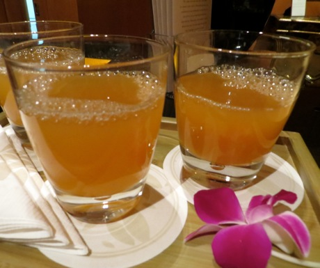 Four Seasons Singapore welcome drink