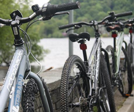 Mountain biking in the Lake District - car ferry