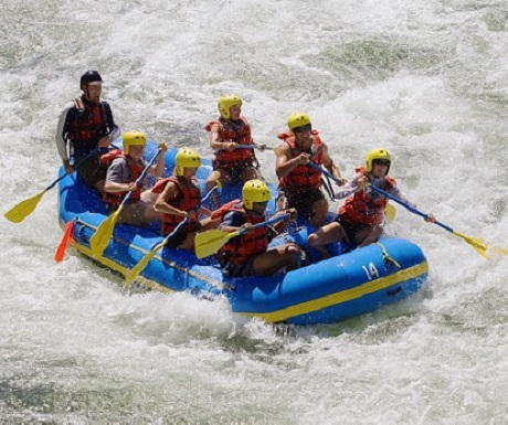 Rafting in the French Alps