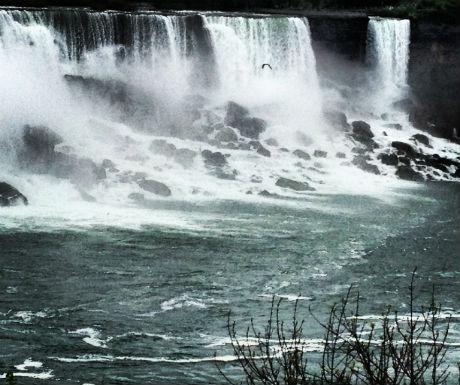 The Niagara Falls up close