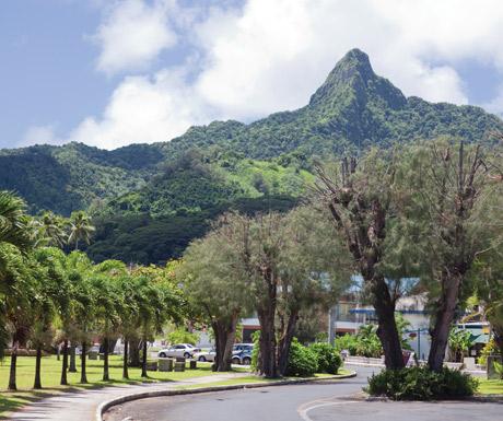 Avarua main road, Rarotonga