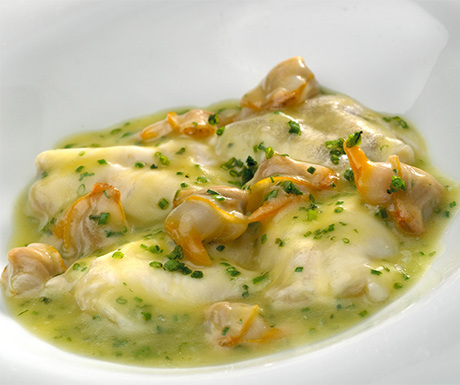 Cod kokotxas with cockles and spring onions - Martin Berasategui