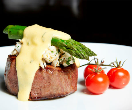Fresh Tomatillo Poblano Sauce likewise Recipe Of The Week Filet Oscar moreover The Red Lion Freehouse Wiltshire Not Your Average Red Lion besides Curry Glazed Beef Tenderloins further Bearnaise Sauce With Crab Meat. on oscar sauce for steak recipe
