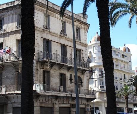 French windows on Casablanca buildings