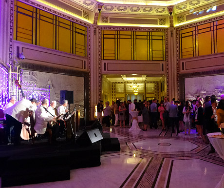 Jazz band at the Fairmont Peace Hotel ILTM party