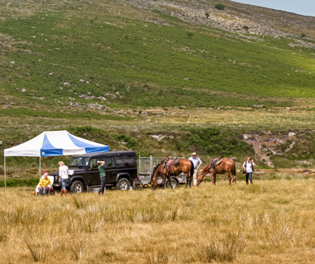 Luxury dining tent on Dartmoor