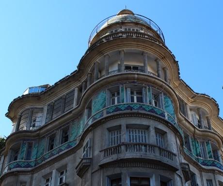 Ornate balcony, Casablanca