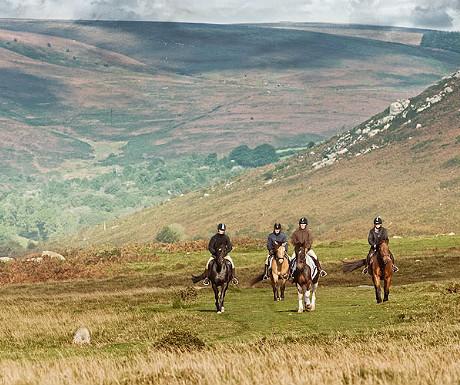 Riding across Dartmoor