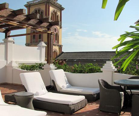 Roof terrace Casa San Agustin Cartagena