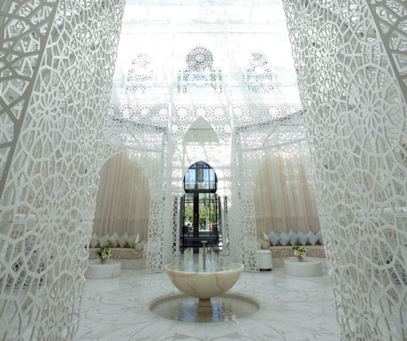 Royal Mansour hall spa