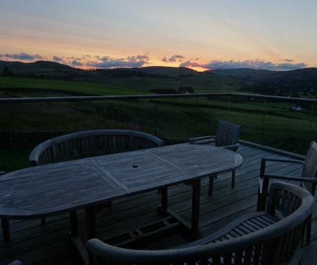 Three Glens sunset