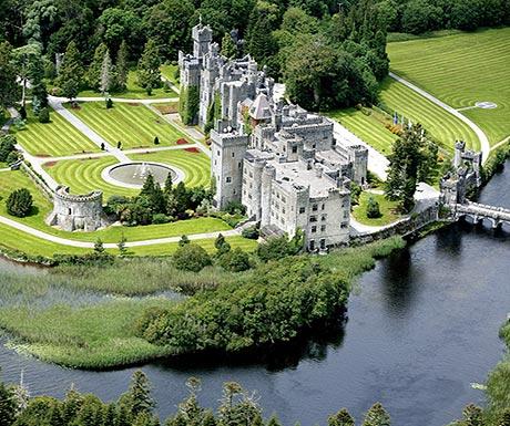 Ashford Castle from the air