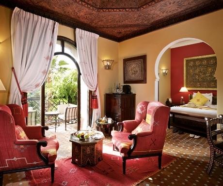 Deluxe room at Kasbah Tamadot