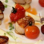 Recipe of the week: Pan-seared diver scallops with a cauliflower purée, chorizo and cherry tomatoes