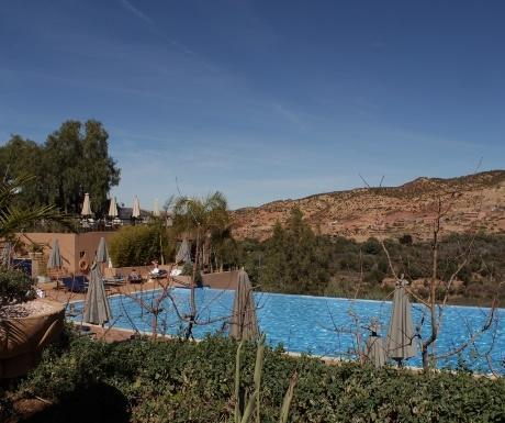Infinity pool at Kasbah Tamadot