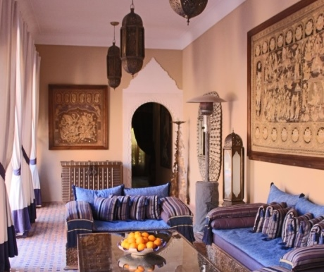 Lounge at Kasbah Tamadot