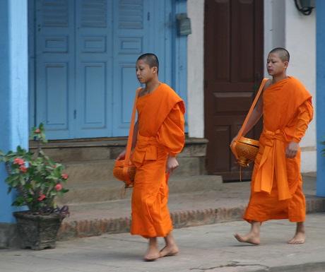 Monks in Laos