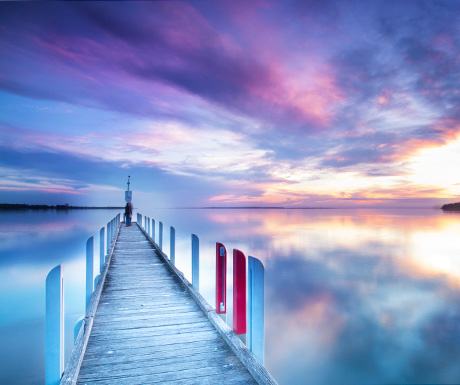 Old jetty in Metung, Australia