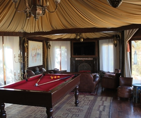 Pool room at Kasbah Tamadot