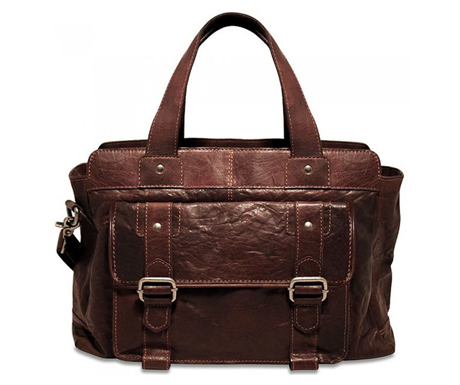 Jack Georges Spikes and Sparrows Leather City Bag