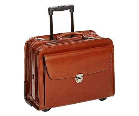 Jack Georges Elements Collection Rolling Briefcase Leather Laptop Case