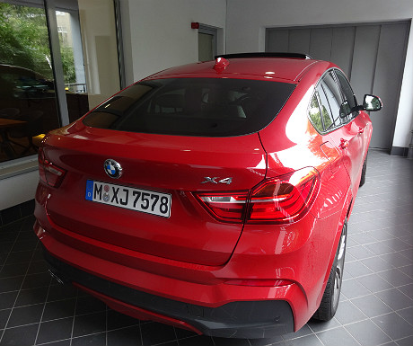 BMW X4 parked at the Carloft