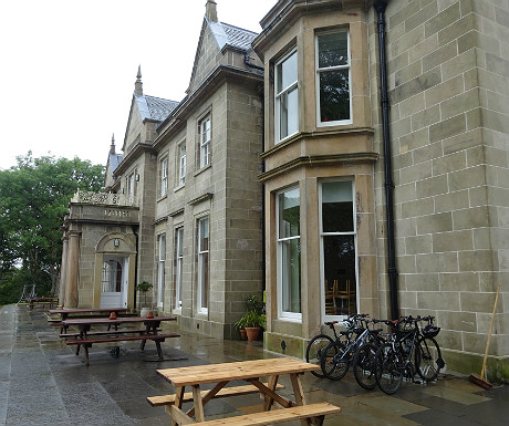 Bikes outside Raasay House