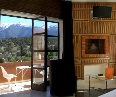 Domaine de Malika room and terrace