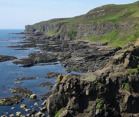Eigg coastline