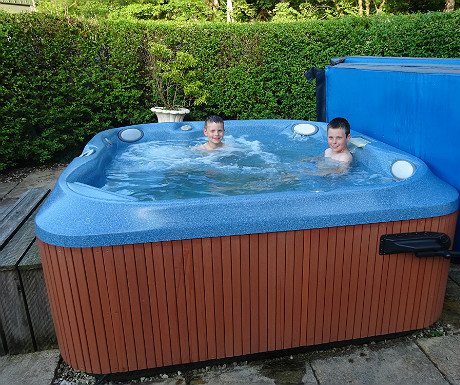 Isle of Eriska hot tub