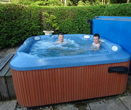 Isle of Eriska hot tub